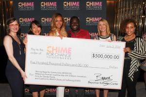 Beyonce dona 500mila dollari