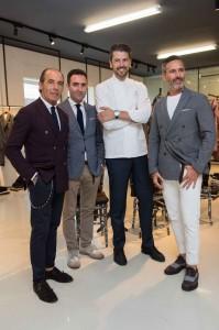 Andrea Berton chef della presentazione di Eleventy, Milano Fashion Week