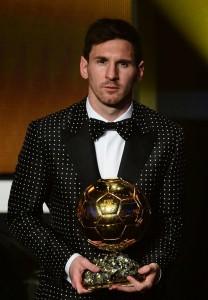 Messi Pallone d'oro 2012 in Dolce&Gabbana