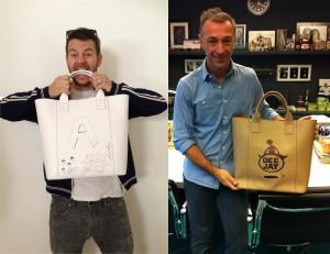 Alessandro Cattelan e Linus per Bags for Dynamo