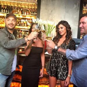 Belen Rodriguez e Joe Bastianich insieme a Simona Miele e Luca Guelfi