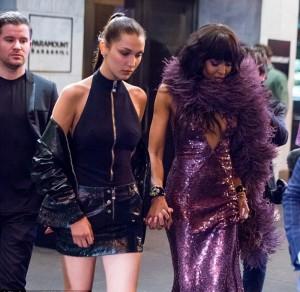Naomi Campbell e bella Hadid al party di lancio dell'autobiografia della Venere Nera