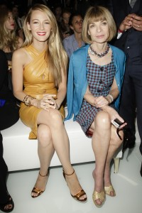 Blake Lively e Anna Wintour alla sfilata di Gucci PE2014