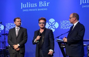 Leonardo DiCaprio, Bono Vox e il Principe Alberto @ Leonardo DiCaprio Foundation Gala 2016