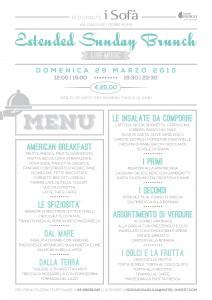 I Sofà di Via Giulia - Extended Sunday Brunch, menu
