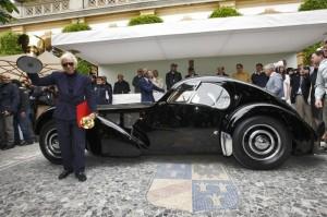 Ralph Lauren con la sua Bugatti 57SC Atlantic