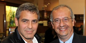 George Clooney e Walter Veltroni